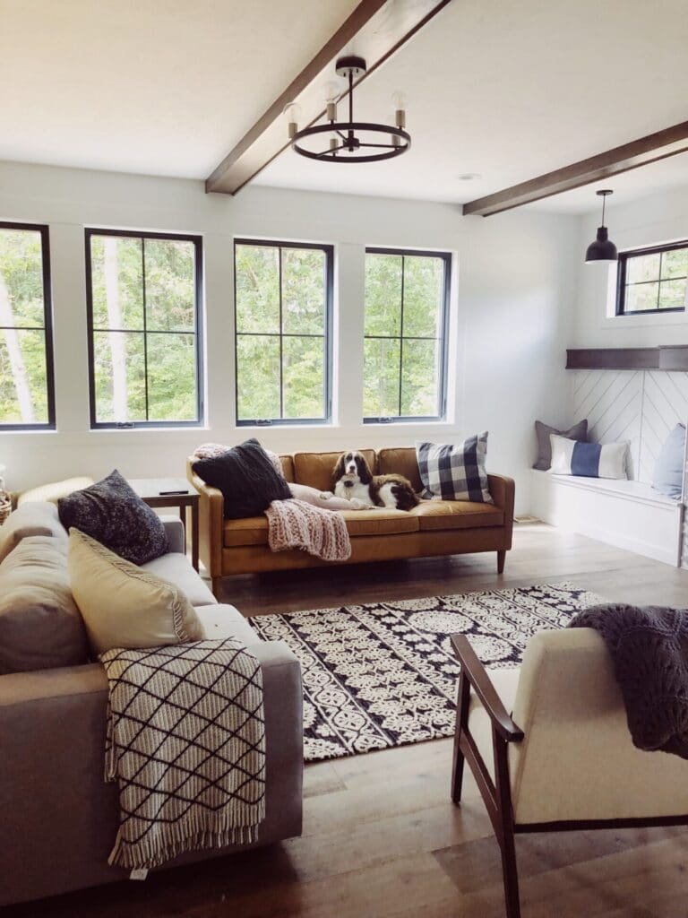 modern living room farmhouse style